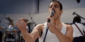 Rami Malek as Freddie Mercury in Bohemian Rhapsody