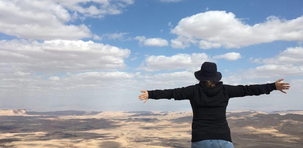 Overlooking-Mitzpe-Ramon-Crater-Negev-Desert